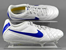 Nike Tiempo Natural IV SG kids football boots - White/Blue