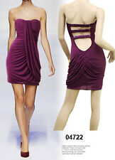 Womens Sexy Sweetheart Strapless Pleated Draped Cocktail Party Mini Short Dress