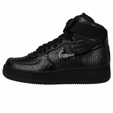 Nike Wmns Air Force 1 Hi PRM Preium Black Croc Patent Womens Wedges Casual Shoes
