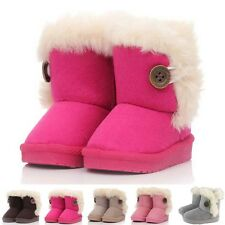 Girls Kids Furry Lined Soft Winter Warm Ankle Boot Snow Boots Shoes US Size 3-12