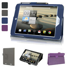 """Evecase Slim Folio Leather Stand Case Cover For Acer Iconia A1-830 7.9"""" Tablet"""