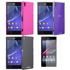 Ultrathin Case Smooth Back Cover + Screen Protector for Sony Xperia Z1S Phone