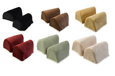 Chenille Standard Rounded Arm Caps with Cotton Trim Decorative Sofa Chair Napery