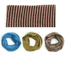 Kid Toddler Boy Girl Winter Warm Snood Scarf  Neckerchief Striped Scarves A72