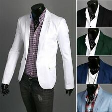 Stylish Casual Slim fit One Button Suit Blazer Coat Jackets For Mens XS-XL