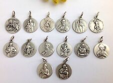 THE PATRON SAINTS - 925 STERLING SILVER MEDALS - FIND YOUR FAVORITE SAINT