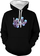 Let It Snow Seasons Greetings Christmas Winter Holidays 2-tone Hoodie Pullover