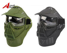 Airsoft Tactical Paintball WARGAME Full Face Guard Mask Goggles Neck Protection