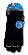 New Columbia mens Omni Heat lined fleece insulated gloves Black S M L XL