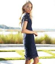 LILLY PULITZER MARTA DRESS 0, 8 TRUE NAVY FLORAL LACE NWT RETAIL 368.OO