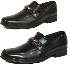 Men's Dress Shoes Slip on Buckle Loafers Suit or Jeans Casual By Alpine Swiss