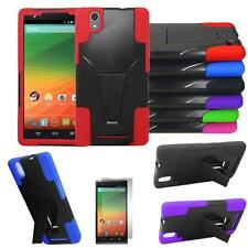 Phone Case For Walmart Family Mobile ZTE Zmax Rugged Cover Stand Screen Guard