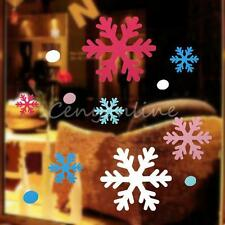 Lovely Snowflake Wall Window Stickers for Christmas Xmas Decorations Five Colors