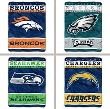 "Choose NFL Team 60 x 80"" 12th Man Series Royal Plush Micro Raschel Throw Blanket"