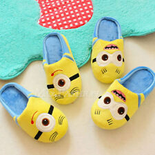 Despicable Me Minion Dave and Stuart Kids Plush Slippers Household Indoor Shoe