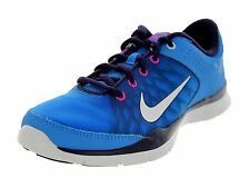 Nike Women's Flex Trainer 3 Running Shoes-Pht Bl/Smmt Wht-Prpl Dynsty