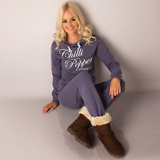 Womens Chilli Pepper Suit In Purple  This Designer Tracksuit For Women