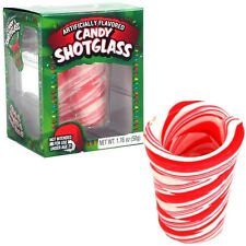 1, 6, or 12 Edible Peppermint Candy Cane Christmas New Years Party Shot Glasses