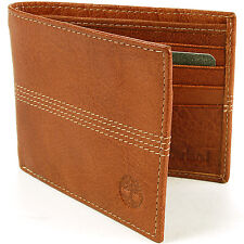 Timberland Bifold Leather Wallet ID Window Credit Card Slots Money Holder New