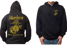 USMC Marines Classic The Few The Proud Pull Over Hoodies S M L XL XXL