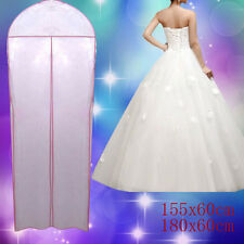 Breathable Wedding Prom Dress Gown Garment Cover Storage Protector Bag Zip Cover