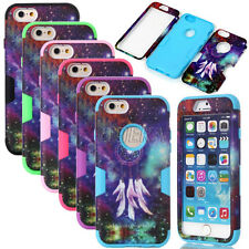 Shockproof Matte Dreamcatcher Pattern Dual Layer Case Cover For iPhone 6 6S Plus