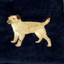 Border Terrier  Dog Embroidered Towels