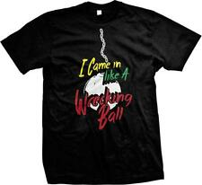 I Came In Like A Wrecking Ball Miley Funny Cyrus Humor Parody Joke Mens T-shirt