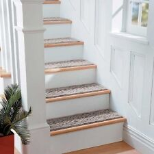 """9"""" x 29"""" Scroll Washable Stair Treads Non Slip Carpet Set of 4 Comes in 4 Colors"""