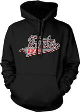 Forty Rocks 40 Happy Birthday Present Gift Over The Hill Senior Hoodie Pullover