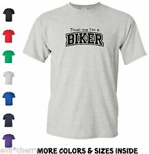 "Funny BIKER T-shirt ""TRUST ME"" Mens Bike Motorcycle Manic ROAD Old School tee xx"