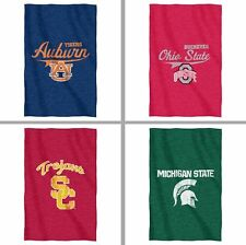 "Choose Your NCAA Team 54 x 84"" Soft Fleece Sweatshirt Throw Blanket by Northwest"