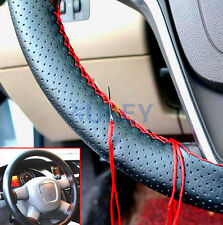 Multi-Color PU Leather Steering Wheel Cover  DIY Thread Needle Car Non-slip