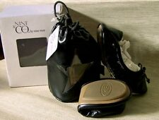 Nine Co. Kids by Nine West Solid Black Ballet Style Flat Shoes New!