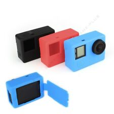 Soft Silicone Rubber Protective Case Skin w/ Back Cover for GoPro Hero 4 Camera