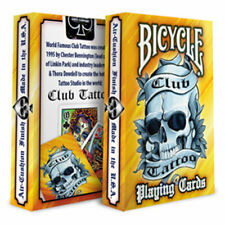 CLUB TATTOO BICYCLE PLAYING CARDS BLACK BLUE YELLOW LINKIN PARK RARE UK STOCK