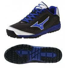 Mizuno Blaze Trainer 2 Men's Baseball Turf Shoes NIB Black/Royal Size 10.5
