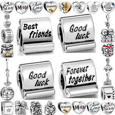 Family&Friend Love Theme Charms Bead For 925 UK sterling silver Bracelet Bangle