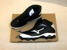 Mizuno 9-Spike Youth Franchise 7 Mid Baseball Cleats NIB Black/White Size 2