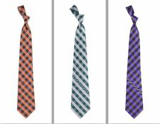 Choose Your NFL Team Woven Polyester Checkered Pattern Neck Tie by Eagles Wings
