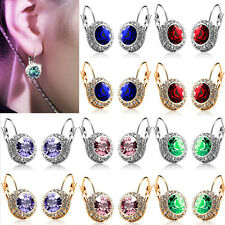Womens Fashion Rhinestone Crystal Dangle Earrings Ear Hook Stud Jewelry Gift New