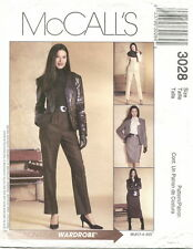 McCalls 3028 Misses Wardrobe Sewing Pattern ~ Jacket Blouse Skirt Pants ***