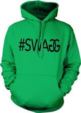#SWAGG Swag Hashtag Double G Dope Hip Hop Rap Lyrics Hoodie Pullover