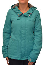Billabong Women's Ramos Zip Up Jacket with Hood Turquoise