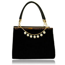 New Women's Bag PU Shoulder Handbag Tote Evening Beads Decorative Elegant Sweet