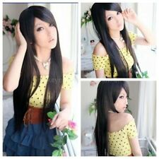 Women Wig Long Straight Synthetic Hair Lady Full Cosplay Costume Party Wig+Cap