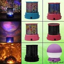 Star Master Colorful Starry Night Light Cosmos Projector Kids Room Bed Side Lamp