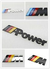 Chrome German Flag ///M Power badge Emblem Engine hood Tailgate sticker For BMW