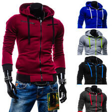 Mens Zipper New Fashion Slim Fit Casual Hooded Hoodie Sweats Coat Jacket
