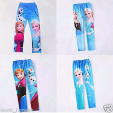 Girl's Frozen Prince Anna Elsa Skinny Leggings Kid's Pants Trousers 2-10Y